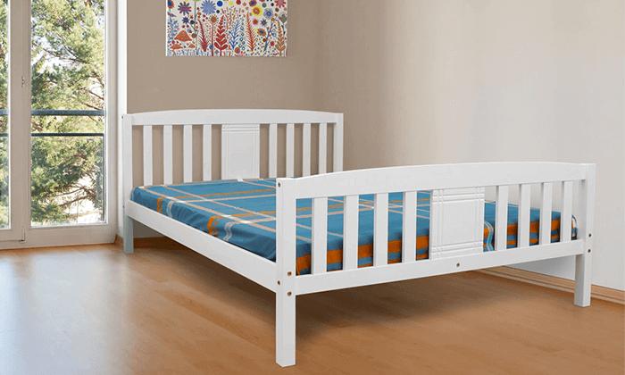 5 מיטה זוגית DEYA מעץ אורן מלא עם אפשרות למזרן