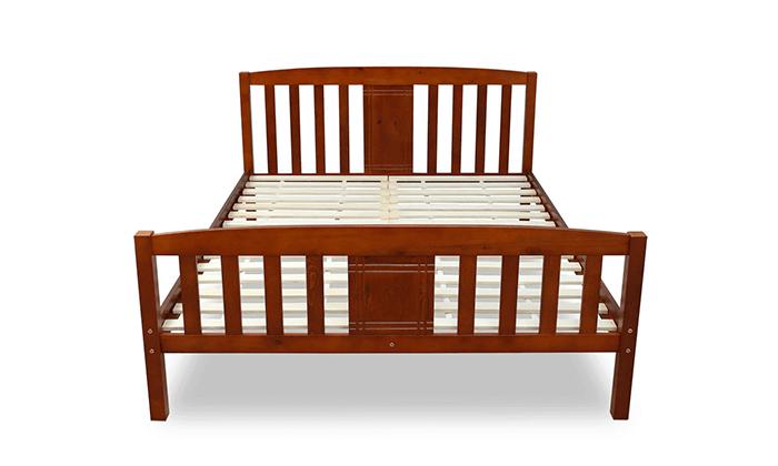 3 מיטה זוגית DEYA מעץ אורן מלא עם אפשרות למזרן