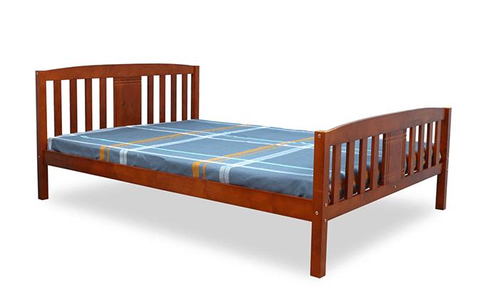 4 מיטה זוגית DEYA מעץ אורן מלא עם אפשרות למזרן