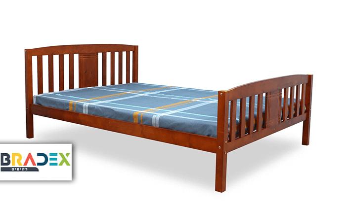 2 מיטה זוגית DEYA מעץ אורן מלא עם אפשרות למזרן