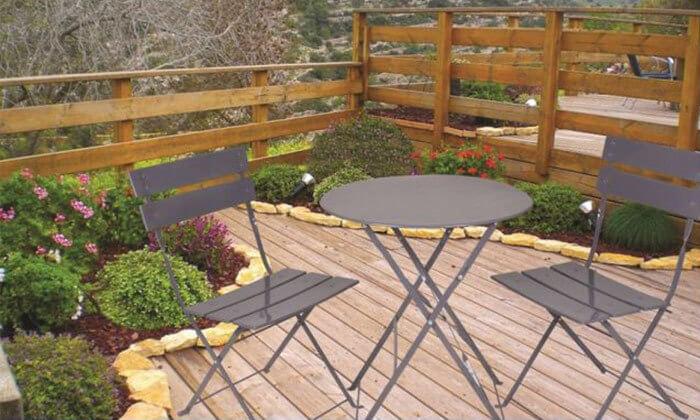 3 סט שולחן גינה ביסטרוושני כיסאות