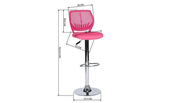 4 כסא בר עם מושב מרופד