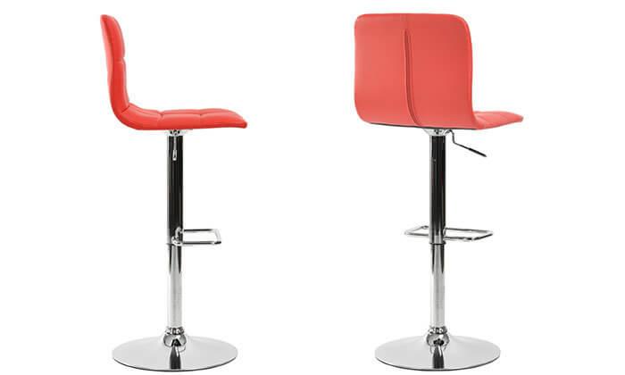 3 כסא בר בריפוד דמוי עור
