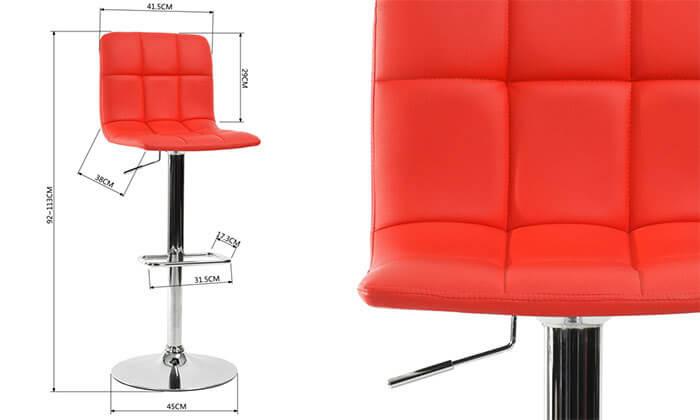 4 כסא בר בריפוד דמוי עור