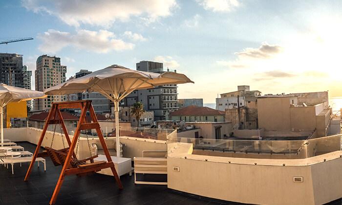 12 יום פינוק עם עיסוי בספא מלון Bell, תל אביב