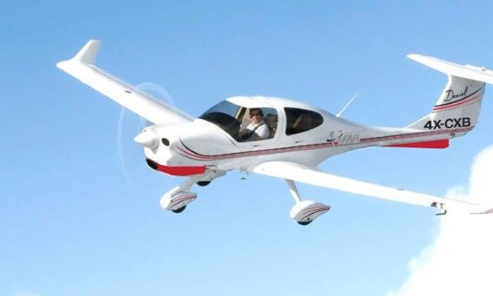 5 סימולטור טיסה או הטסת מטוס עצמית במנחת הרצליה