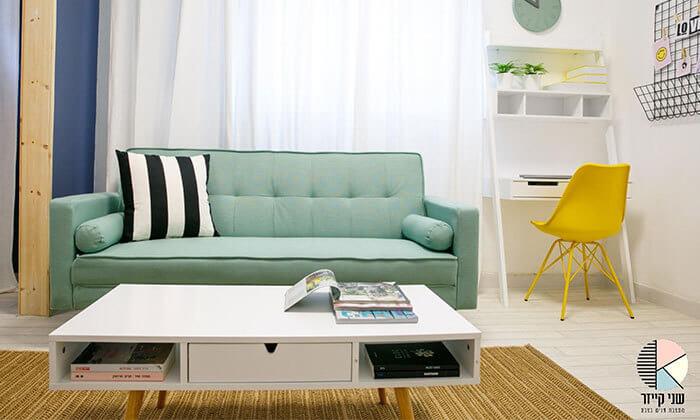 4 ספה תלת מושבית נפתחת למיטה