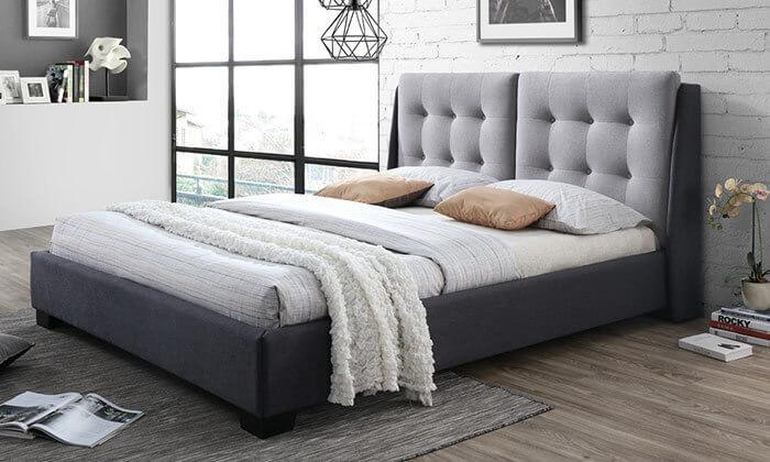 5 מיטה זוגית מרופדת HOME DECOR