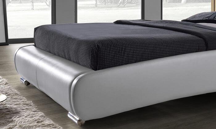 3 מיטה זוגית מרופדת בעיצוב מעוגל HOME DECOR