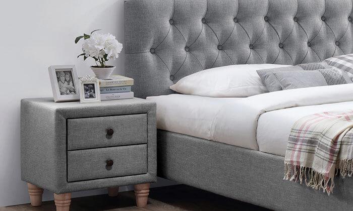 3 מיטה זוגית מרופדת וזוג שידות HOME DECOR