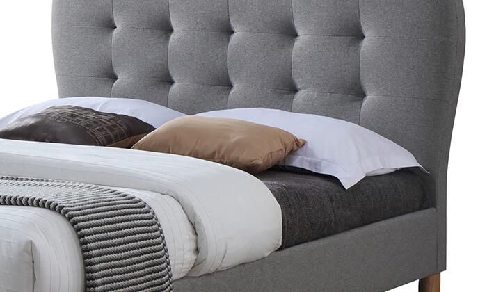3 מיטה זוגית מרופדת HOME DECOR