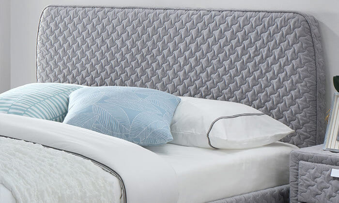 3 מיטה זוגית בריפוד בד תלת מימד HOME DECOR