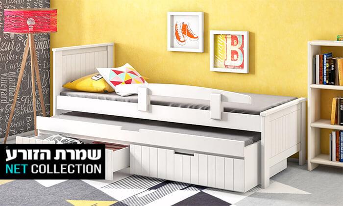 2 שמרת הזורע: מיטת ילדים משולבת עץ מלא