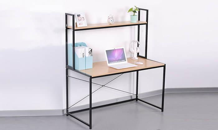 2 שולחן מחשב עם מדף