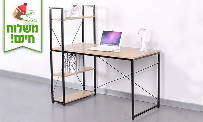 3 שולחן מחשב בשילוב עץ - הובלה חינם!
