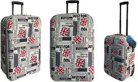מזוודות עם הדפסים במבחר גדלים