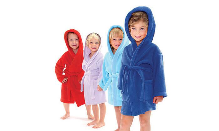 3 חלוק רחצה לילדים ונוער 100% בד כותנה