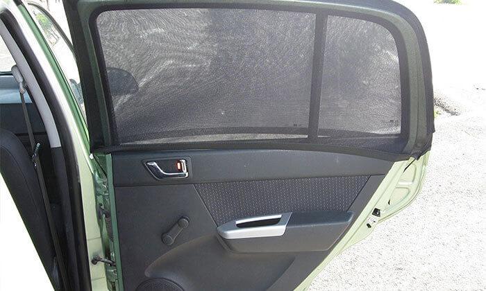 3 זוג מגני שמש צדדיים לרכב