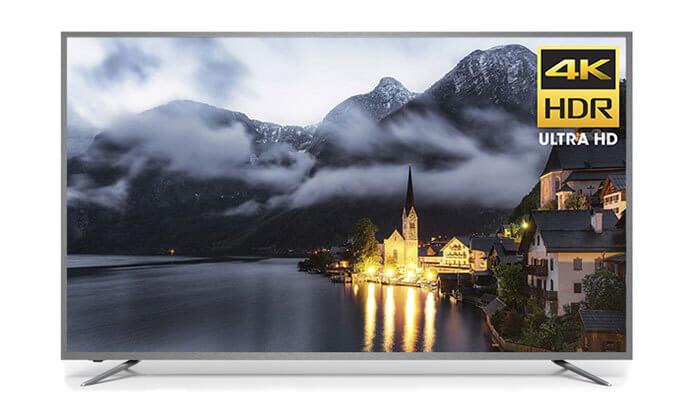 טלוויזיה חכמה PEERLESS 4K ULTRA HD עם מסך 75 אינץ'