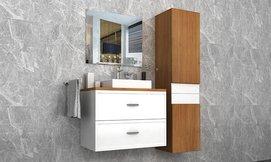 ארון אמבטיה תלוי עם מגירות