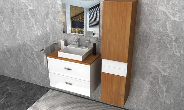 מדהים ארון אמבטיה תלוי עם מגירות | גרו (גרופון) OM-63