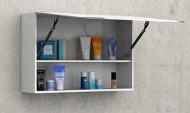 ארון עליון לאמבטיה עם מראה