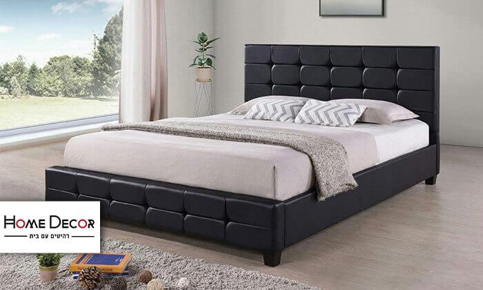 2 מיטה זוגית בריפוד דמוי עור HOME DECOR
