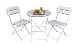 שולחן וזוג כסאות מתקפלים