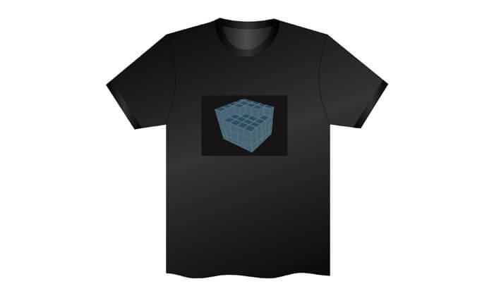 4 חולצה עם פאנל תמונה משתנה