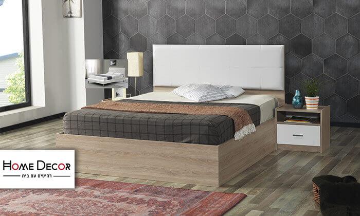 2 מיטה זוגית ו-2 שידות תואמות