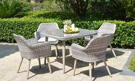 פינת אוכל וכסאות לגינה