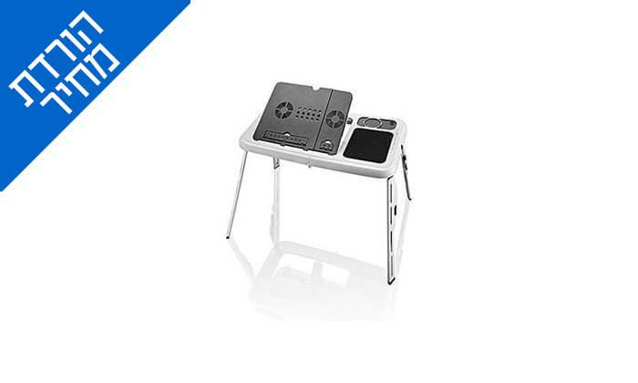 4 שולחן עם משטח קירור למחשב נייד