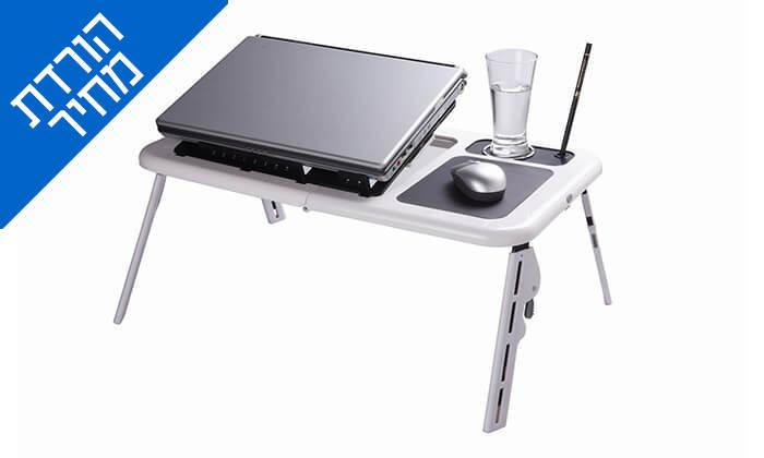 6 שולחן עם משטח קירור למחשב נייד