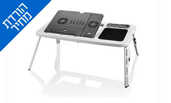 3 שולחן עם משטח קירור למחשב נייד