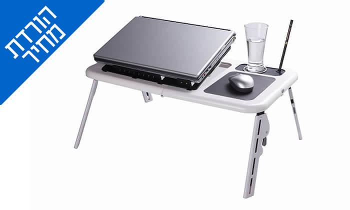 2 שולחן עם משטח קירור למחשב נייד