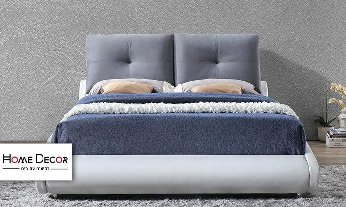 2 מיטה זוגית מרופדת בעיצוב מעוגל HOME DECOR