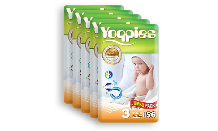 3 5 חבילות חיתולי פרמיום yoppies