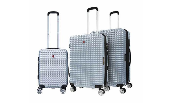 3 סט 3 מזוודות פוליקרבונט SWISS BAGS