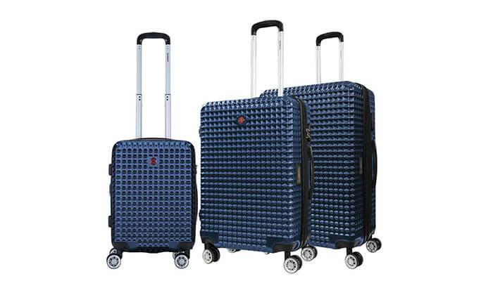6 סט 3 מזוודות פוליקרבונט SWISS BAGS