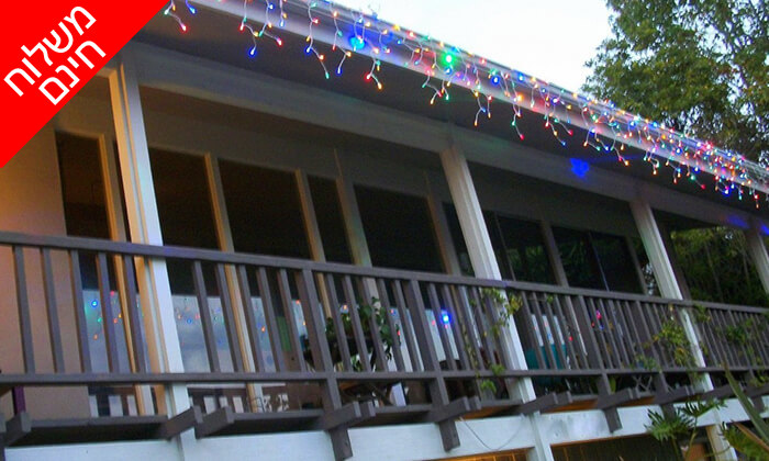 6 שרשרת נורות LED סולאריות - משלוח חינם!