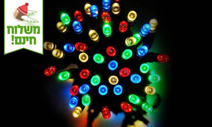 8 שרשרת נורות LED סולאריות - משלוח חינם!