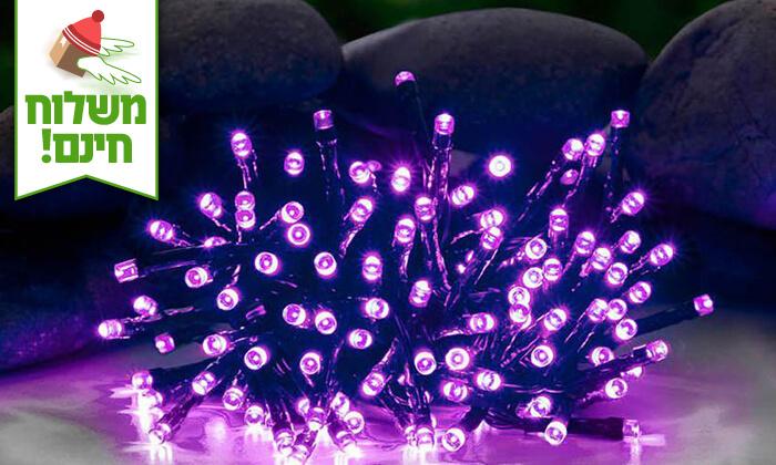 9 שרשרת נורות LED סולאריות - משלוח חינם!