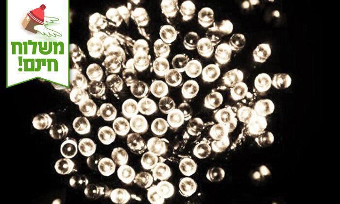 10 שרשרת נורות LED סולאריות - משלוח חינם!