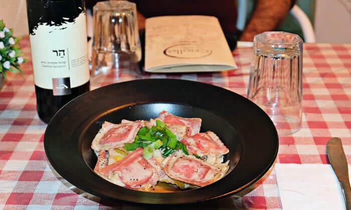 2 ארוחה איטלקית זוגית במסעדת קריולו, בעיר העתיקה בבאר שבע
