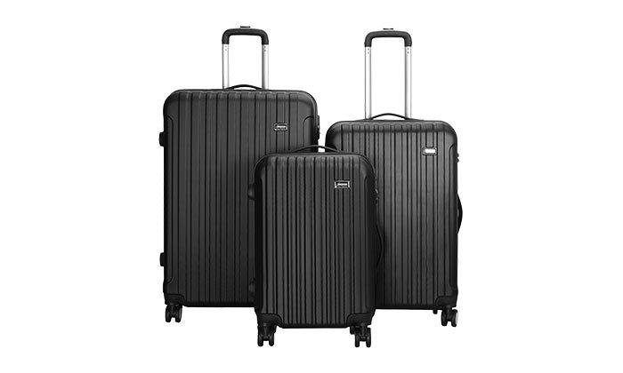 4 סט 3 מזוודות קשיחות AMRICANTRAVELER