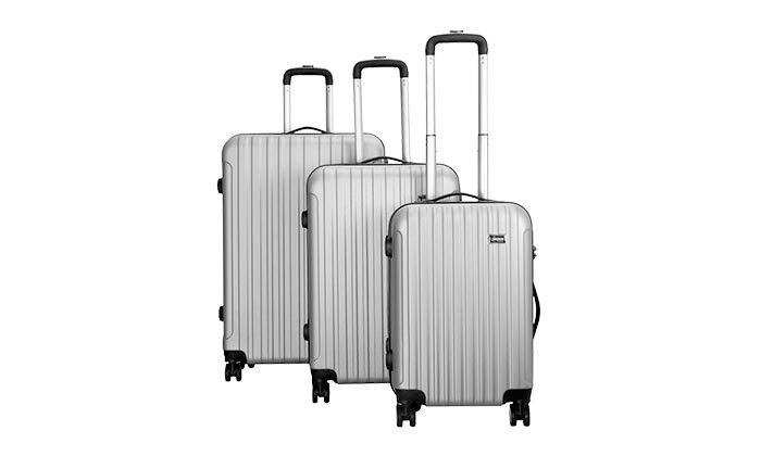 7 סט 3 מזוודות קשיחות AMRICANTRAVELER