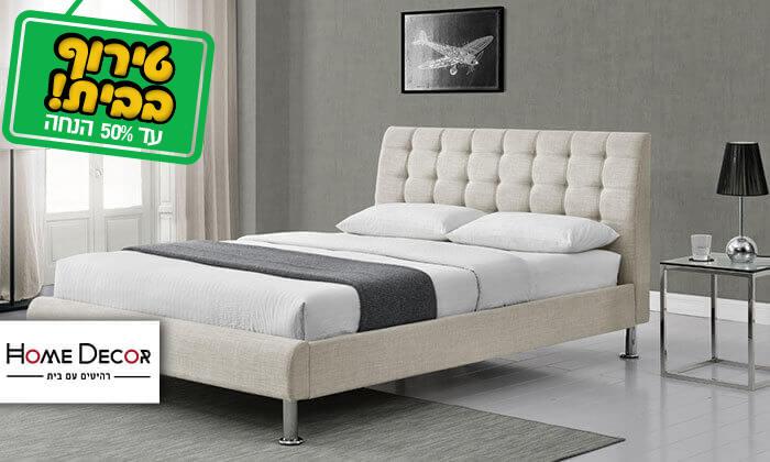2 מיטה זוגית בריפוד בד HOME DECOR