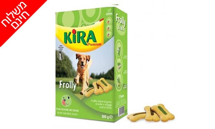 4 חבילות ביסקוויט קירה לכלב - משלוח חינם!