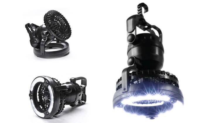 2 מאוורר עם תאורת לד, SWISS CAMP