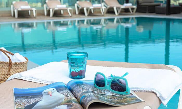 18 ארוחת בוקר וכניסה לבריכה במלון רימונים טאואר רמת גן